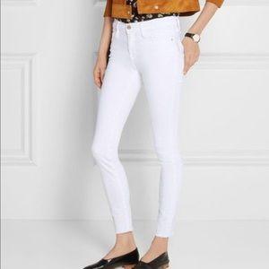 Frame le skinny de Jeanne crop white sz 26